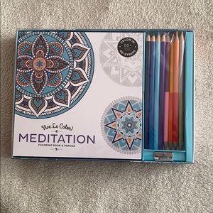 Vive Le Color Coloring Kit Meditation themed pages